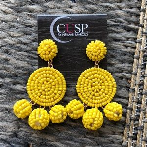 Cusp Neiman Marcus  yellow beaded earrings